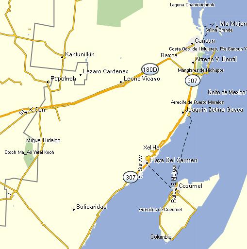 GPSTravelMaps.com: Mexico Riviera Maya GPS Map on