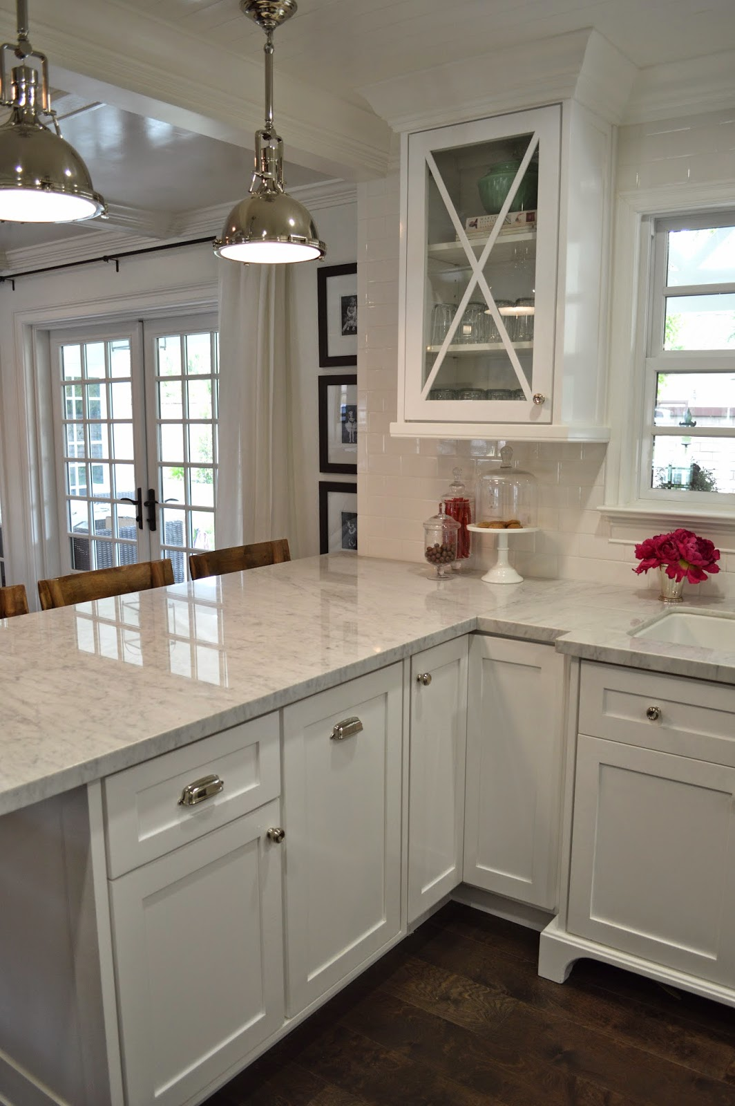 The cape cod ranch renovation great room continued kitchen Cape cod style kitchen design