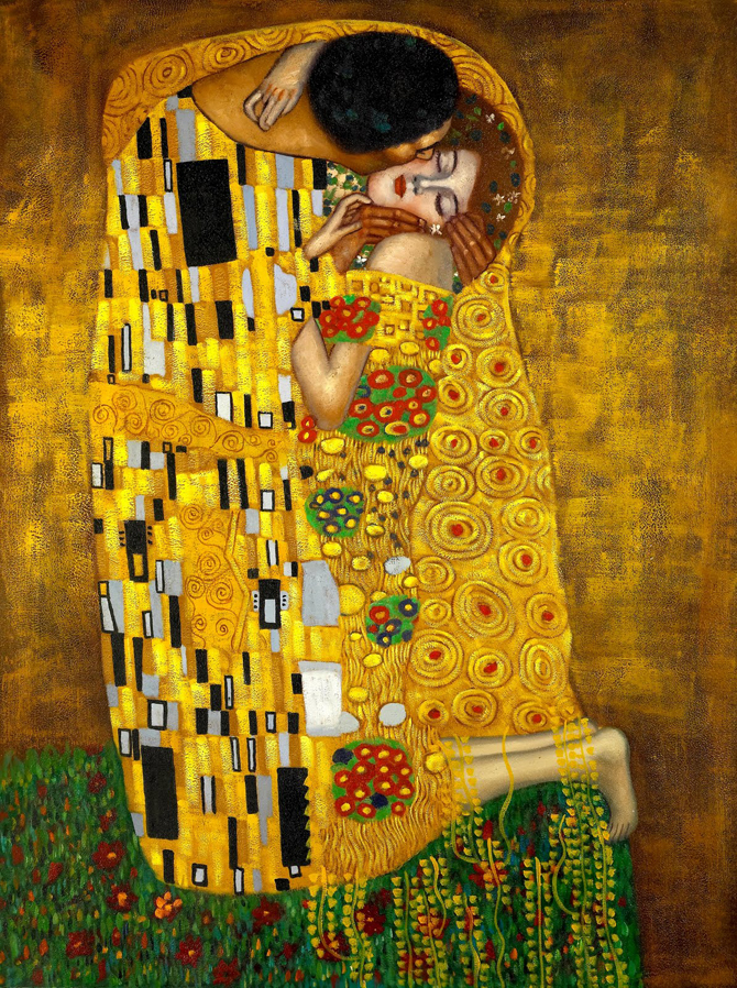 Gustav Klimt the Kiss Painting