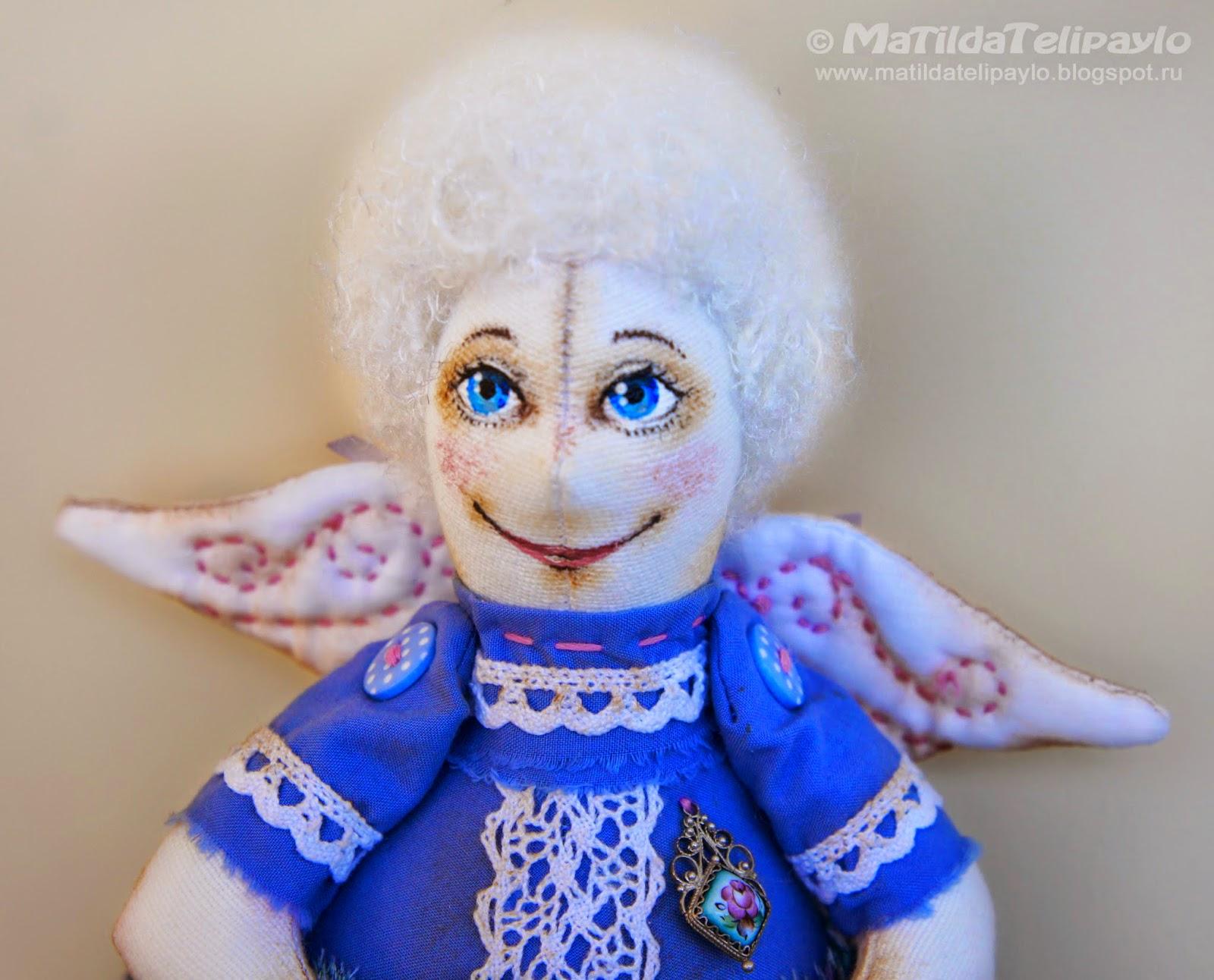 авторская текстильная кукла Юлии Телипайло