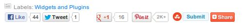 tombol share di bawah postingan