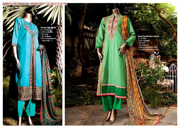 Junaid Jamshed Midsummer Collection 2014