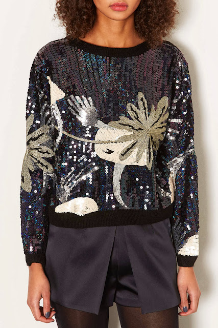 knitted sequin jumper