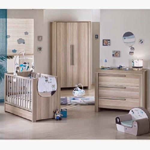 Chambre bébé en bois aubert