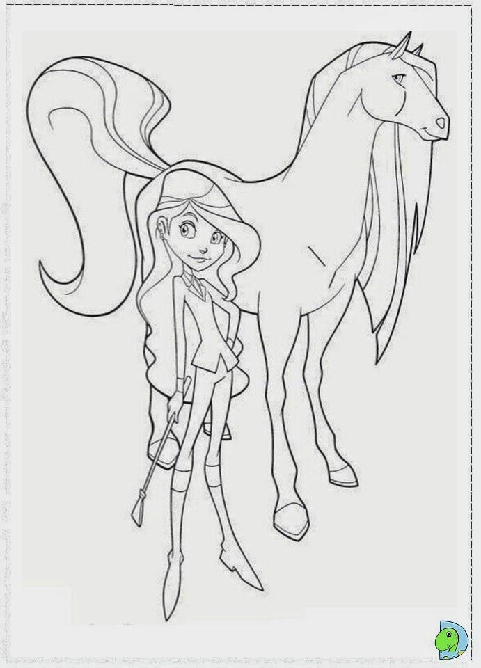 Dinokids - Desenhos para colorir: Desenhos de Horseland para colorir