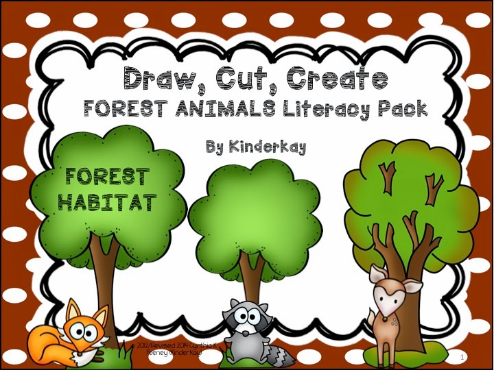 http://www.teacherspayteachers.com/Product/Draw-Cut-Create-FOREST-ANIMALS-Literacy-Habitat-Pack-271006