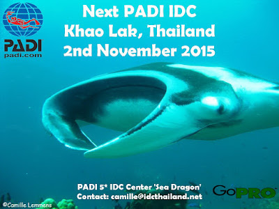Next PADI IDC in Khao Lak, Thailand starts 2nd November 2015
