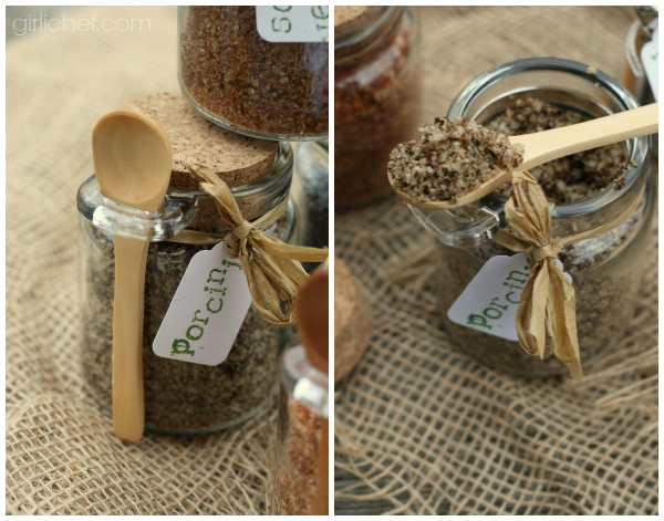 Porcini Sea Salt {DIY} #HandcraftedHolidays at www.girlichef.com