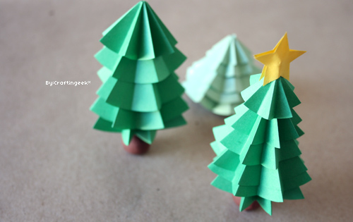 Creandi rbol de navidad de origami - Arbol de navidad origami ...