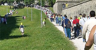 Día del Camino de Santiago en Pamplona.