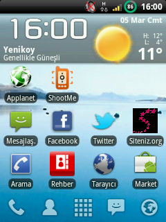 Turkcell T10 ve Vodafone 845 Rom Atma Huawei U8100/U8110/U8120 FRESH ZODIAC FRUIT ROM V5.1