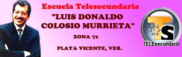 ESC. TELESECUNDARIA LUIS DONALDO COLOSIO MURRIETA CLAVE: 30DTV1051D