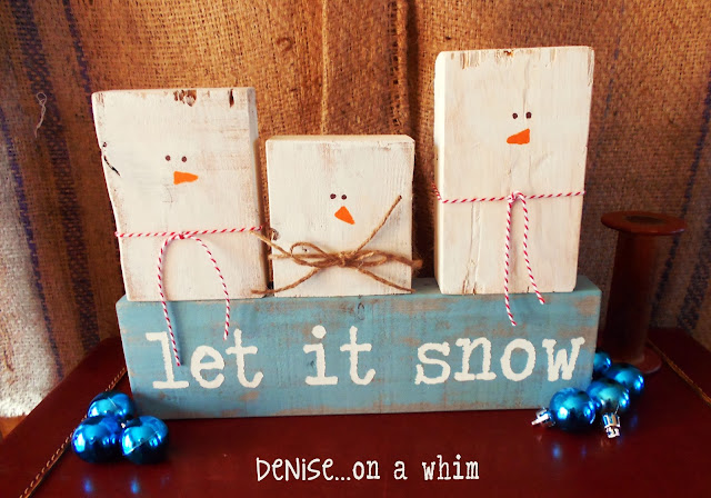 Let It Snow Holiday Snowman Decor!