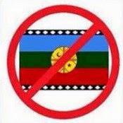 No a la bandera mapuche