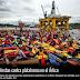 Seattle, protestan contra enorme plataforma petrolera para el Ártico