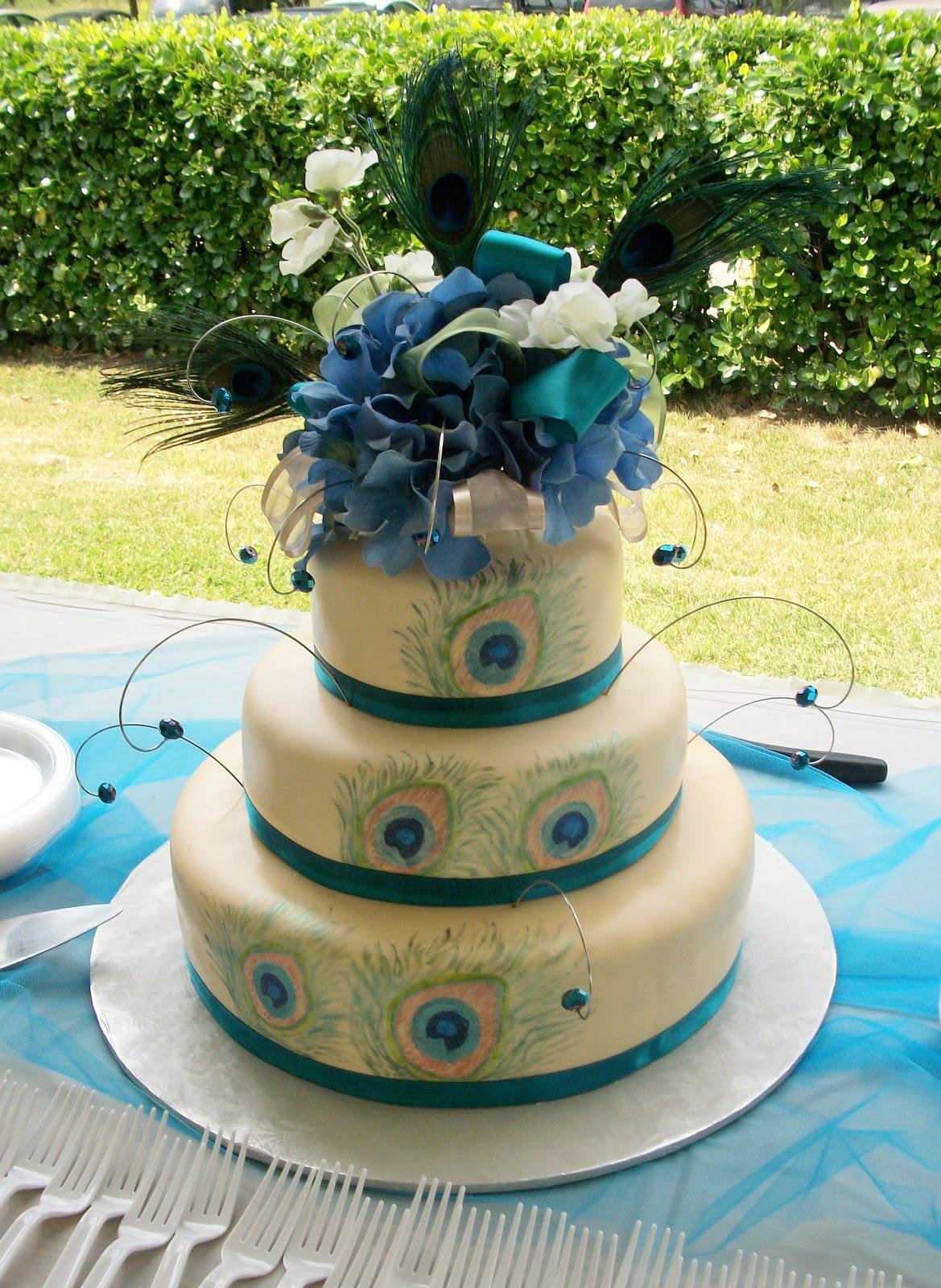 Delicious peacock wedding cakes especial