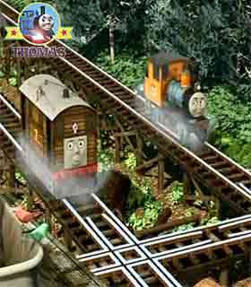 Toby Thomas the tank engine Misty Island Shake Shake Bridge little Bash and Dash logging locomotive