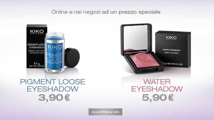 KIKO - Promo ombretti -33% Water Eyeshadow & Pigment Loose Eyeshadow