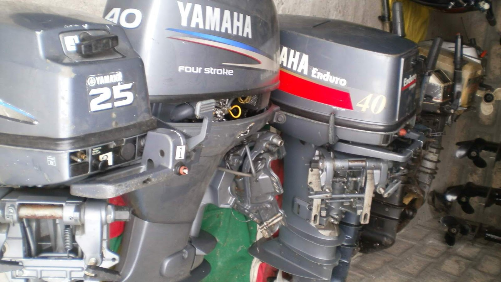 40 hp outboard boat engines used second hand marine for Yamaha outboard motor dealers