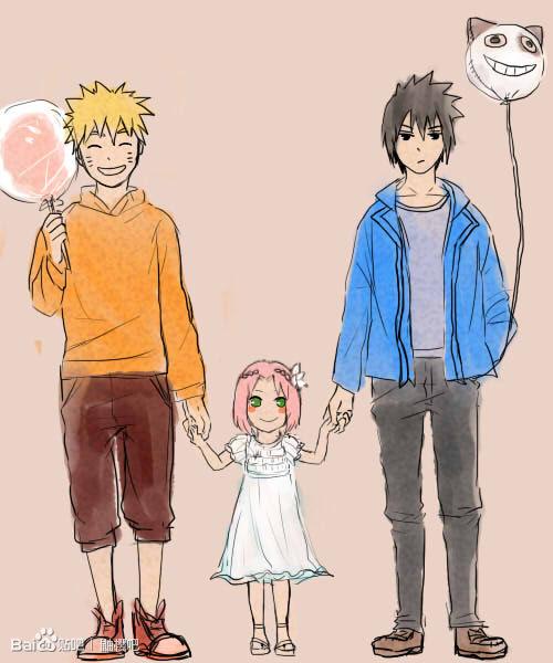 Gambar Naruto Sasuke Sakura Tim 7