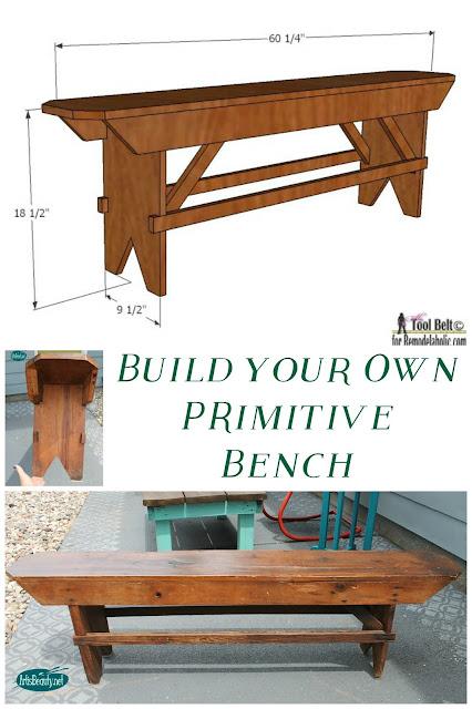 Art Is Beauty Build Your Own Primitive Bench