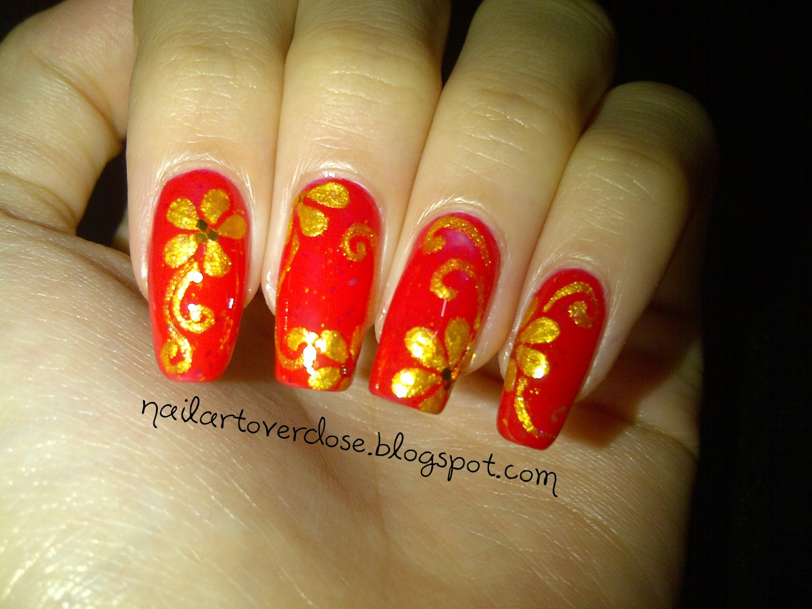 Nail Art Overdose: Another Chinese New Year Design