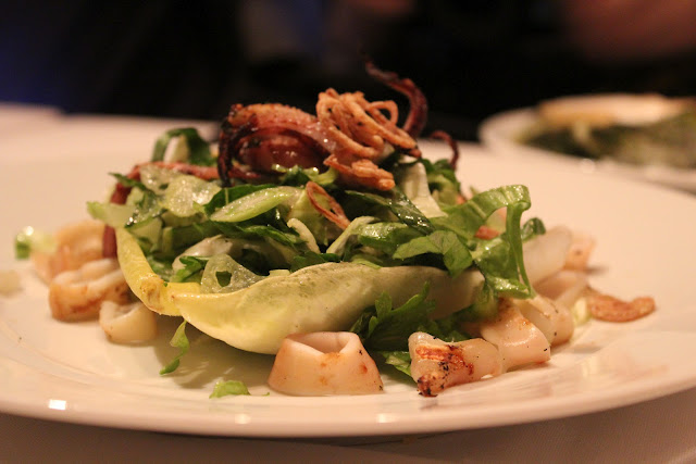 Grilled squid salad at 80 Thoreau, Concord, Mass.