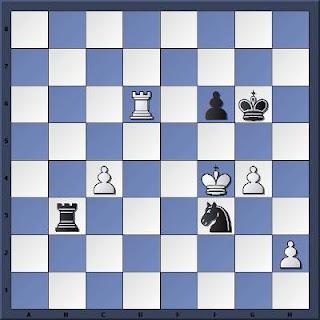 Echecs à Caen : la position après 54.Td6