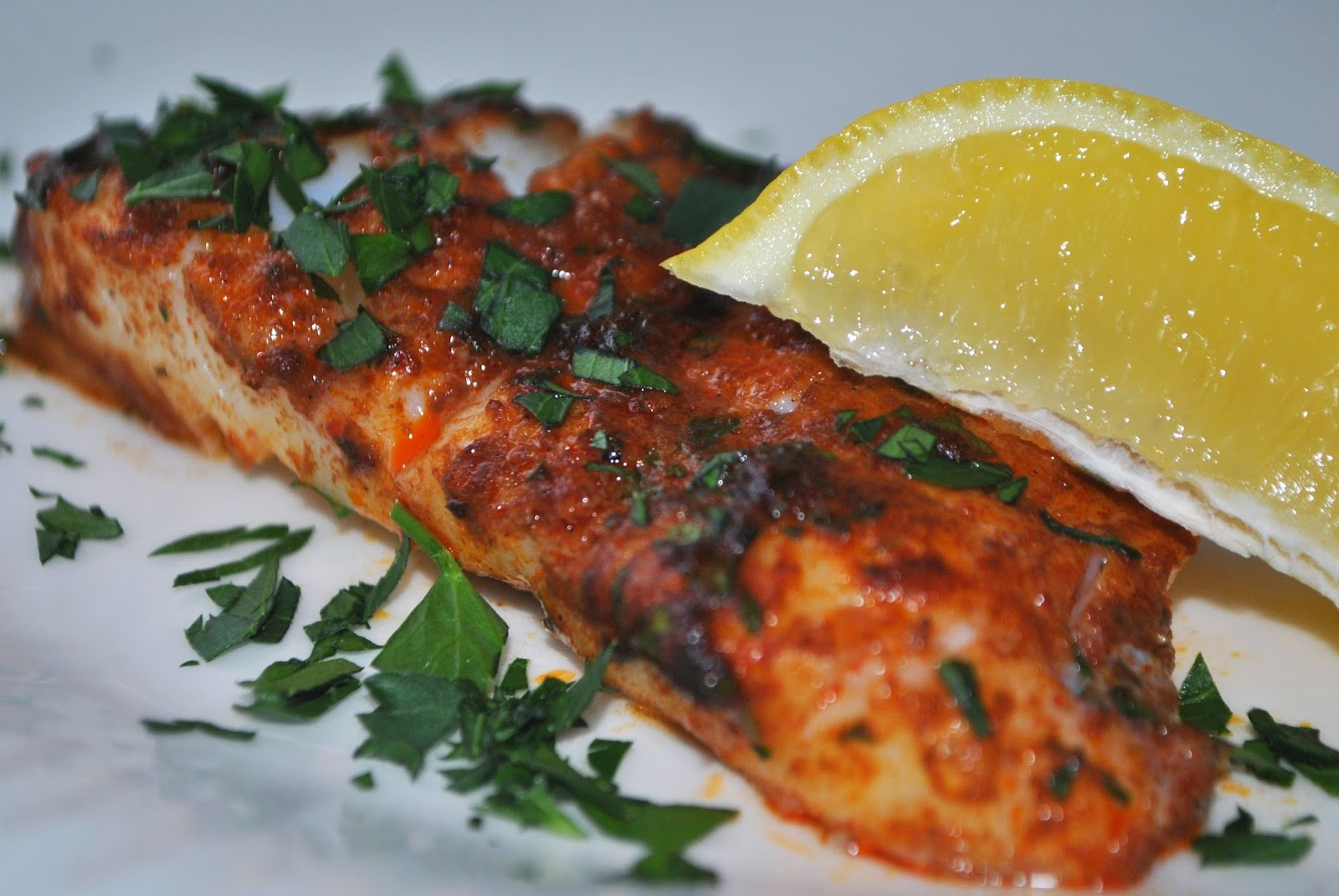 Recipe doodle baked fish with paprika lemon butter and for Baked cod fish recipes