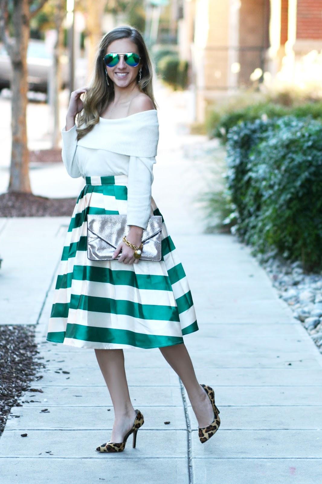 50s-style-pleated-midi-skirt-street-style