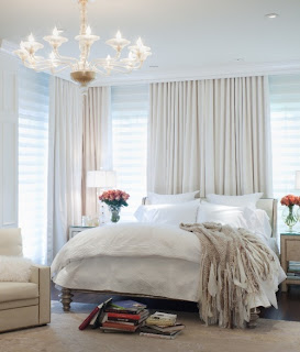 Clients want curtains and padded headboards this winter in their bedroom.