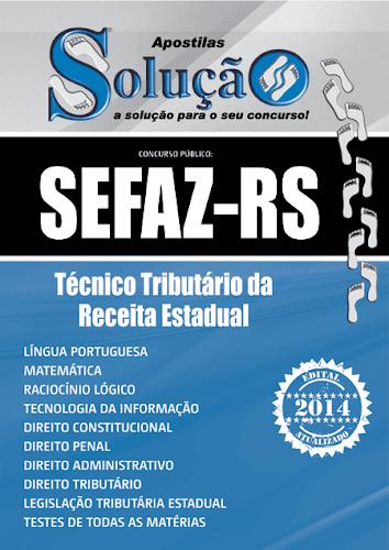 Apostila SEFAZ-RS Técnico Tributário da Receita Estadual
