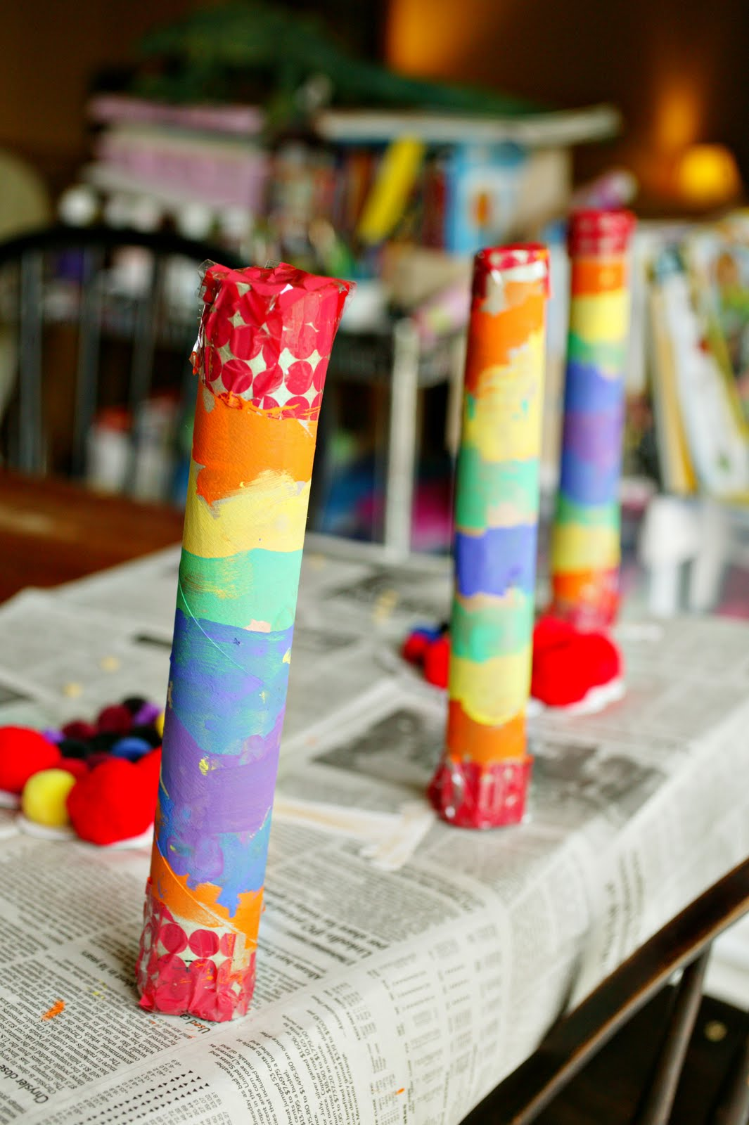 Rainbow shakers lesson plans for Easy rain stick craft