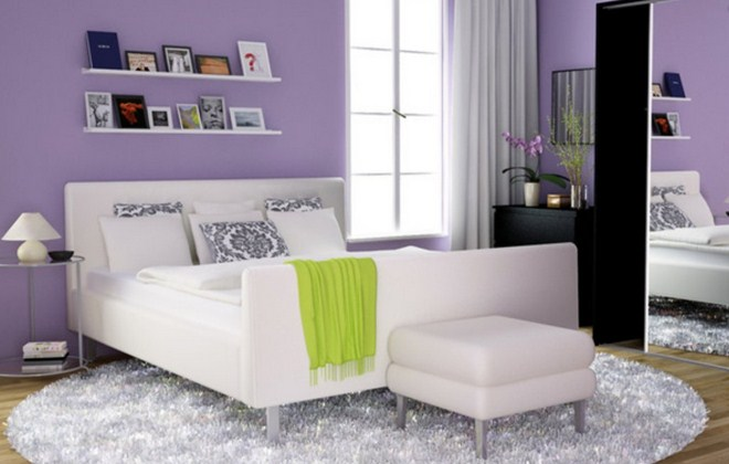 Purple Bedroom Decorating Ideas For Minimalist Home