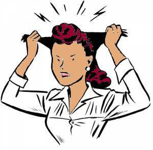 Woman Pulling Hair Out Clip Art