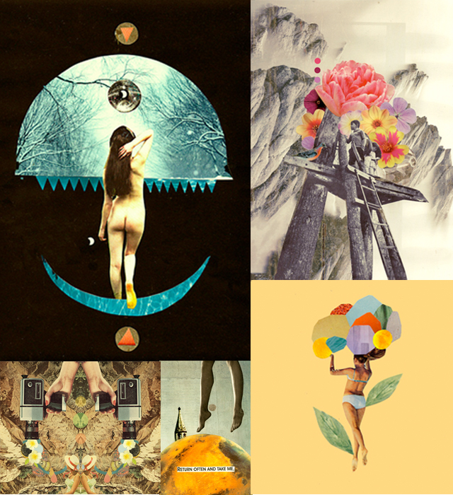 collages by laura redburn