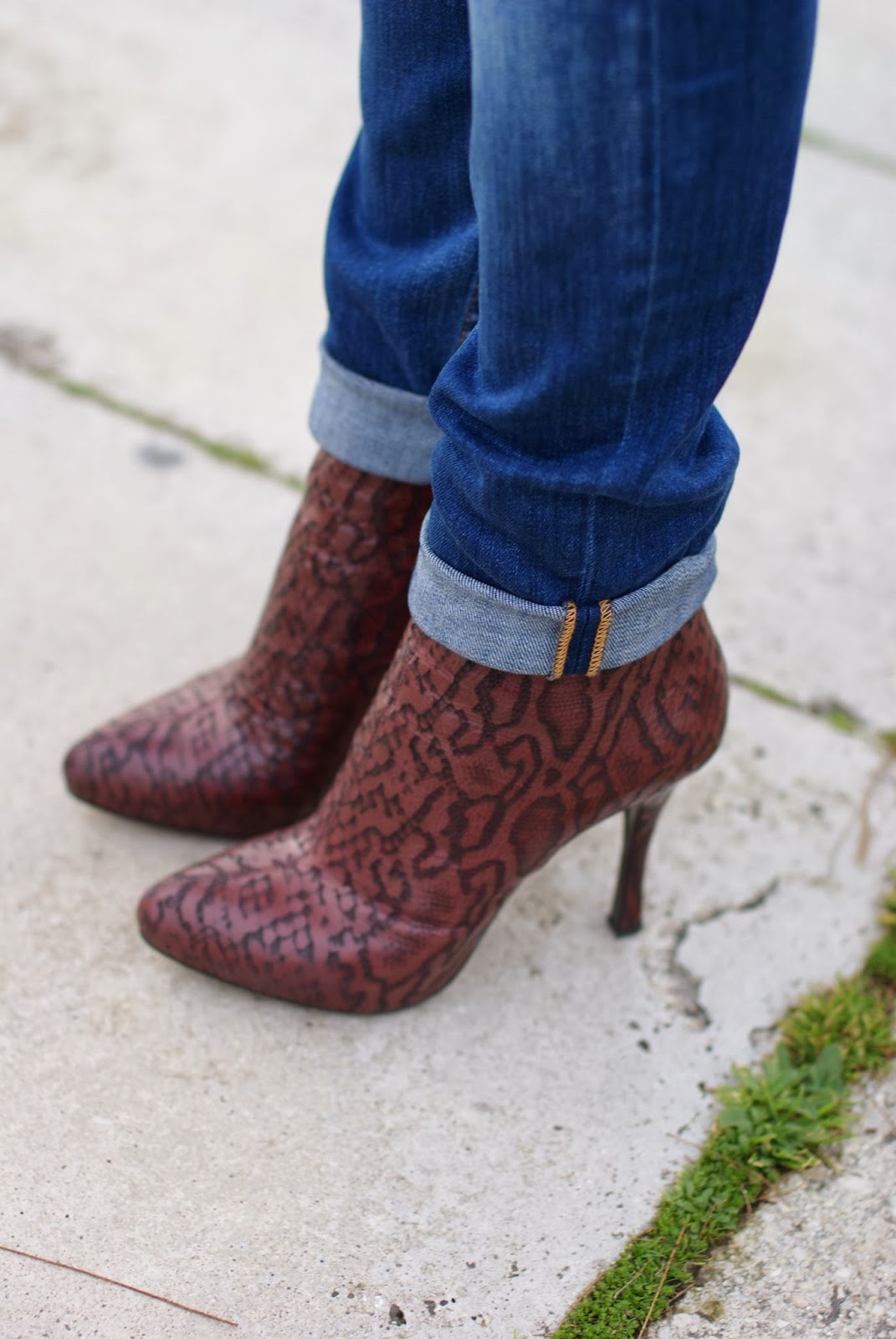 Loriblu burgundy python ankle boots, Fashion and Cookies, fashion blogger