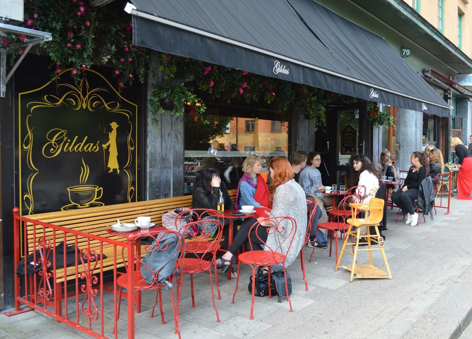Outside Gildas Rum cafe in Södermalm, Stockholm