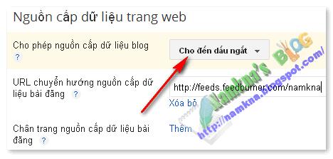 Rút nắn nguồn cấp dữ liệu cho blogger