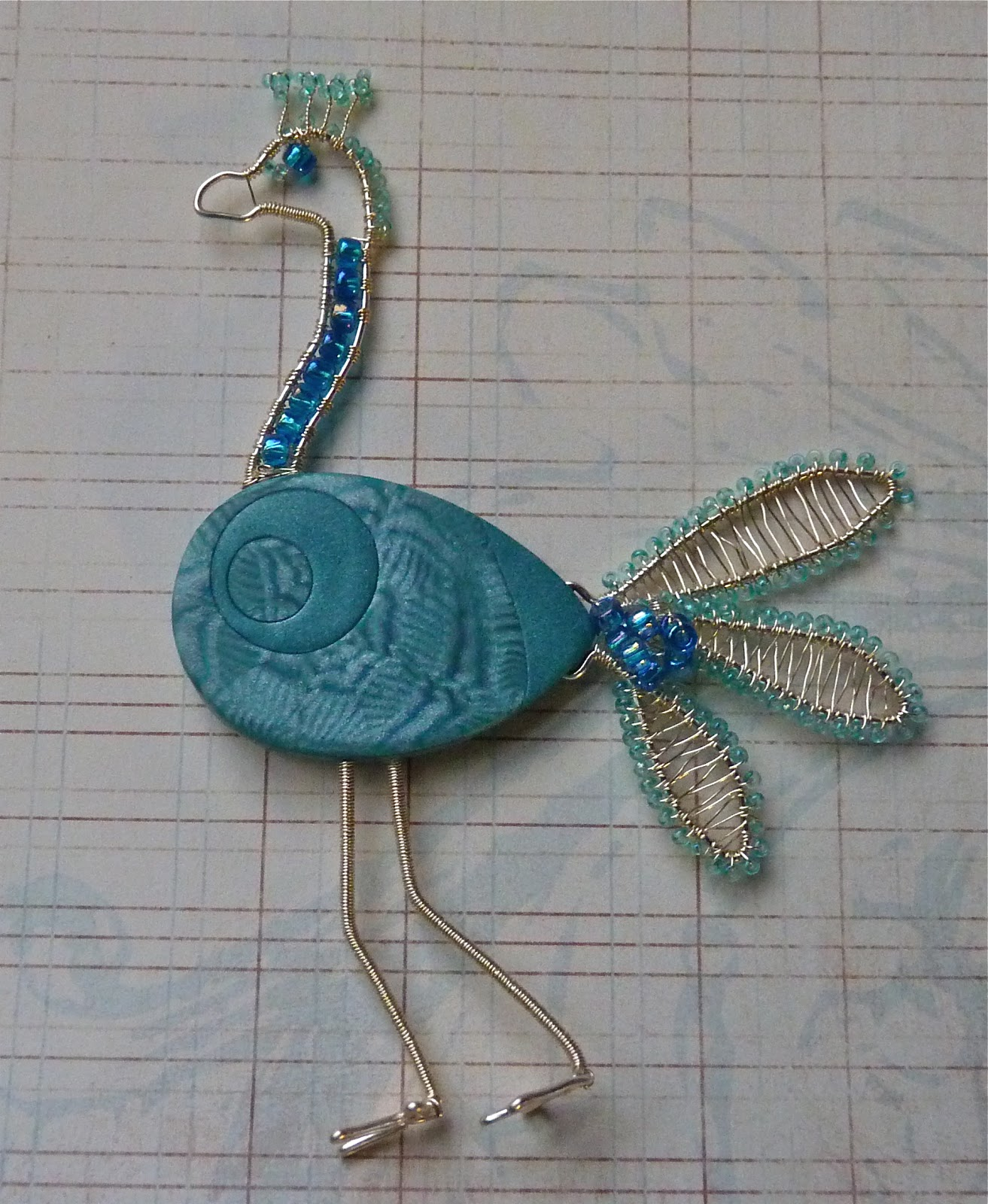 Knightwork: Playing with Clay: Adding Wire & Beads to Polymer Clay