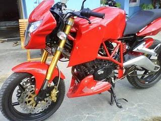 Modif Bajaj Pulsar Sporty Style