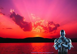 Wallpaper of Vin Diesel Action Movie Actor Chronicles of Riddick Movie in Sunset Desktop Wallpaper