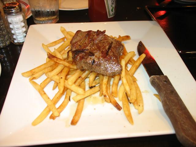 Steak Frites.  Flatiron steak and french fries.