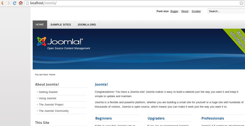 Sitio Web Joomla