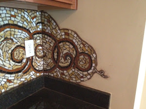 This mosaic is in a desk area at a private residence in Pa