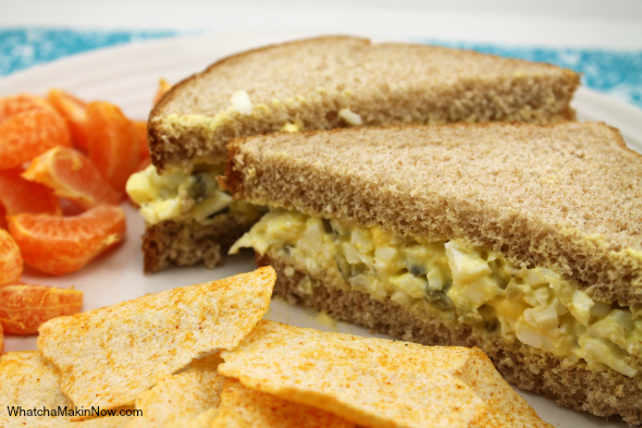 Sweet and Crunchy Egg Salad from @whatchamakinnow