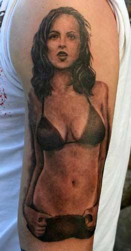 Bikini girl tattoo art