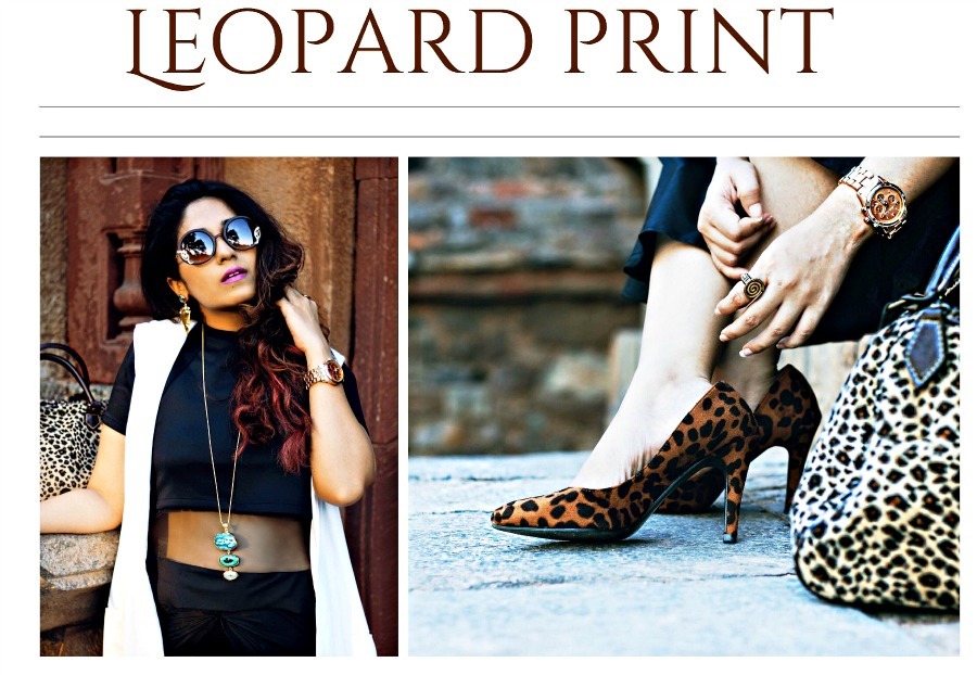 leoprad print shoes and bag online