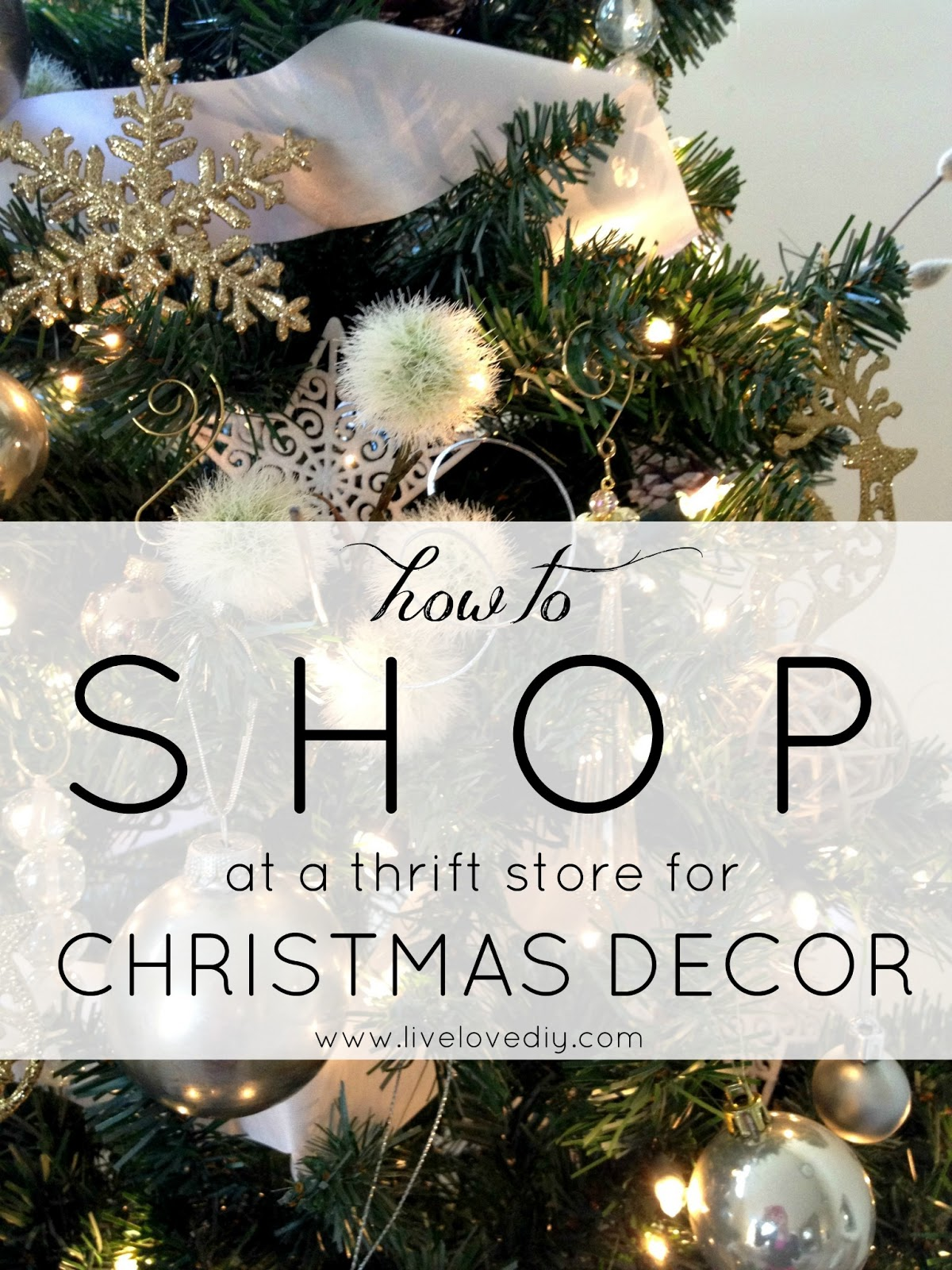 how to shop at a thrift store for christmas decor