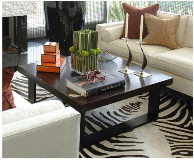 Living room decorating design carpet or rug for living for Zebra living room ideas